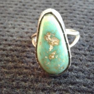 Jewelry - Native American Sterling Silver and Turquoise Ring
